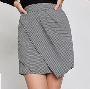 BCBGeneration Asymmetrical Houndstooth Mini Skirt